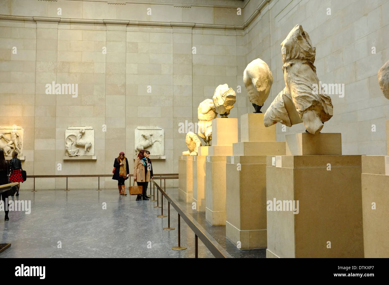 Elgin Marbles Greek/Roman artifacts at the British Museum, London, England Stock Photo