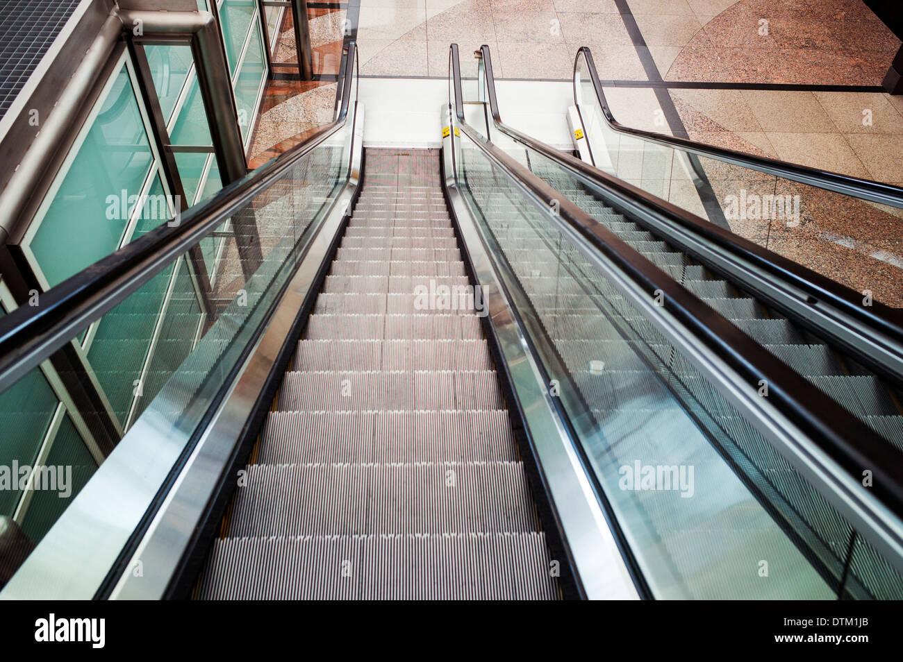 Escalator, Denver International Airport, Colorado, USA - Stock Image