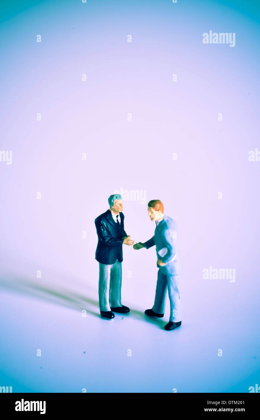 Two man, negotiation. - Stock Image
