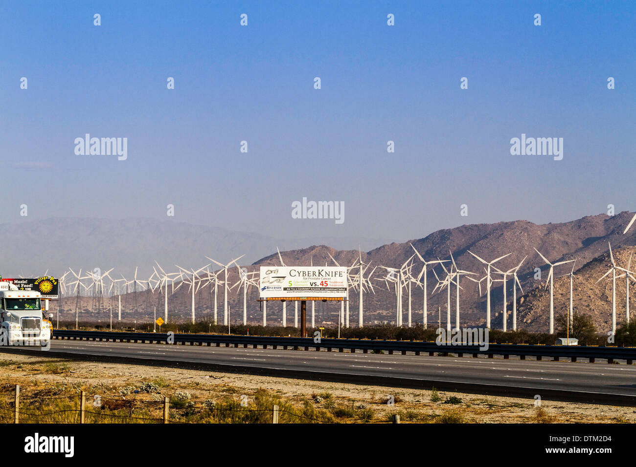 Wind Farm Along Interstate 10 In The Palm Springs Area Of California