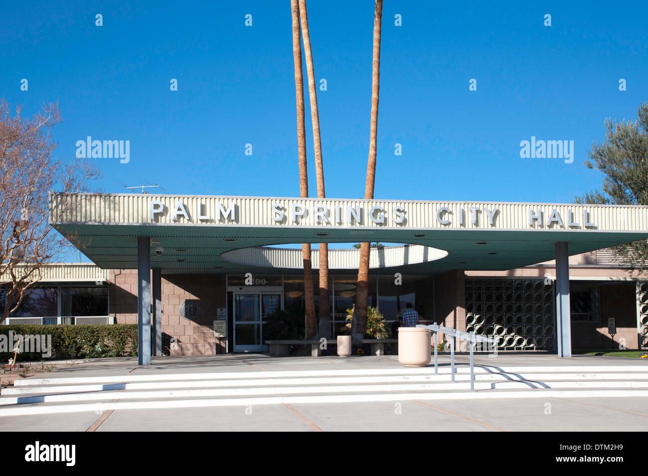 Palm Springs City Hall Stock Photo