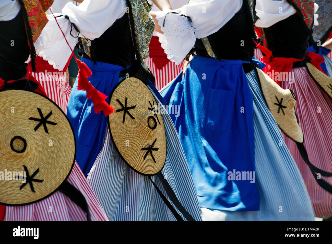 Europe, France, Alpes-Maritimes, Antibes. Traditional Provencal festival. Folk dance. Stock Photo
