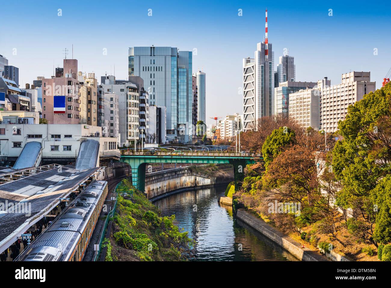 Ochanomizu, Tokyo, Japan at the university buildings. - Stock Image