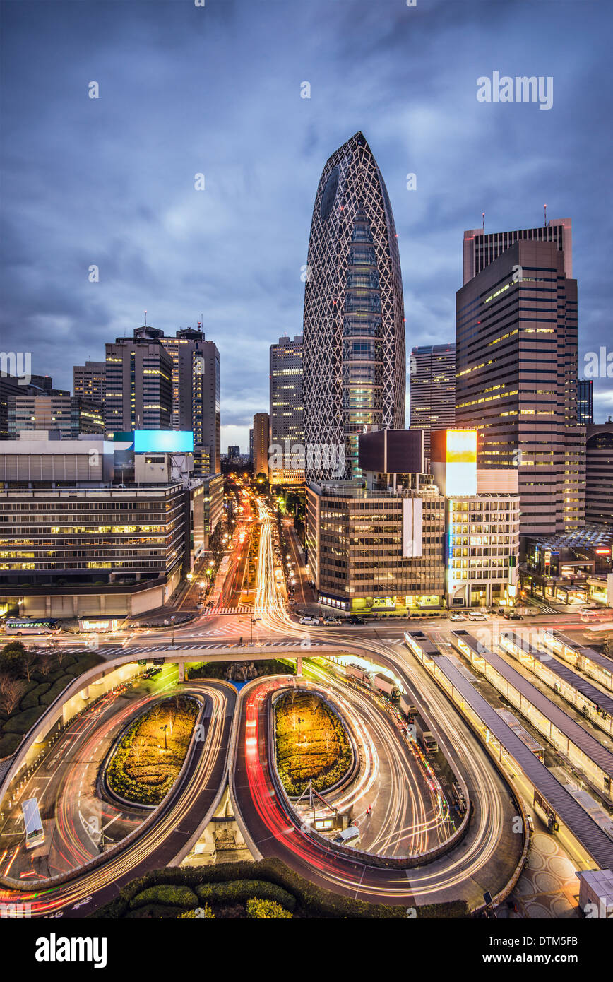 Tokyo, Japan cityscape at Shinjuku skyscraper district. - Stock Image