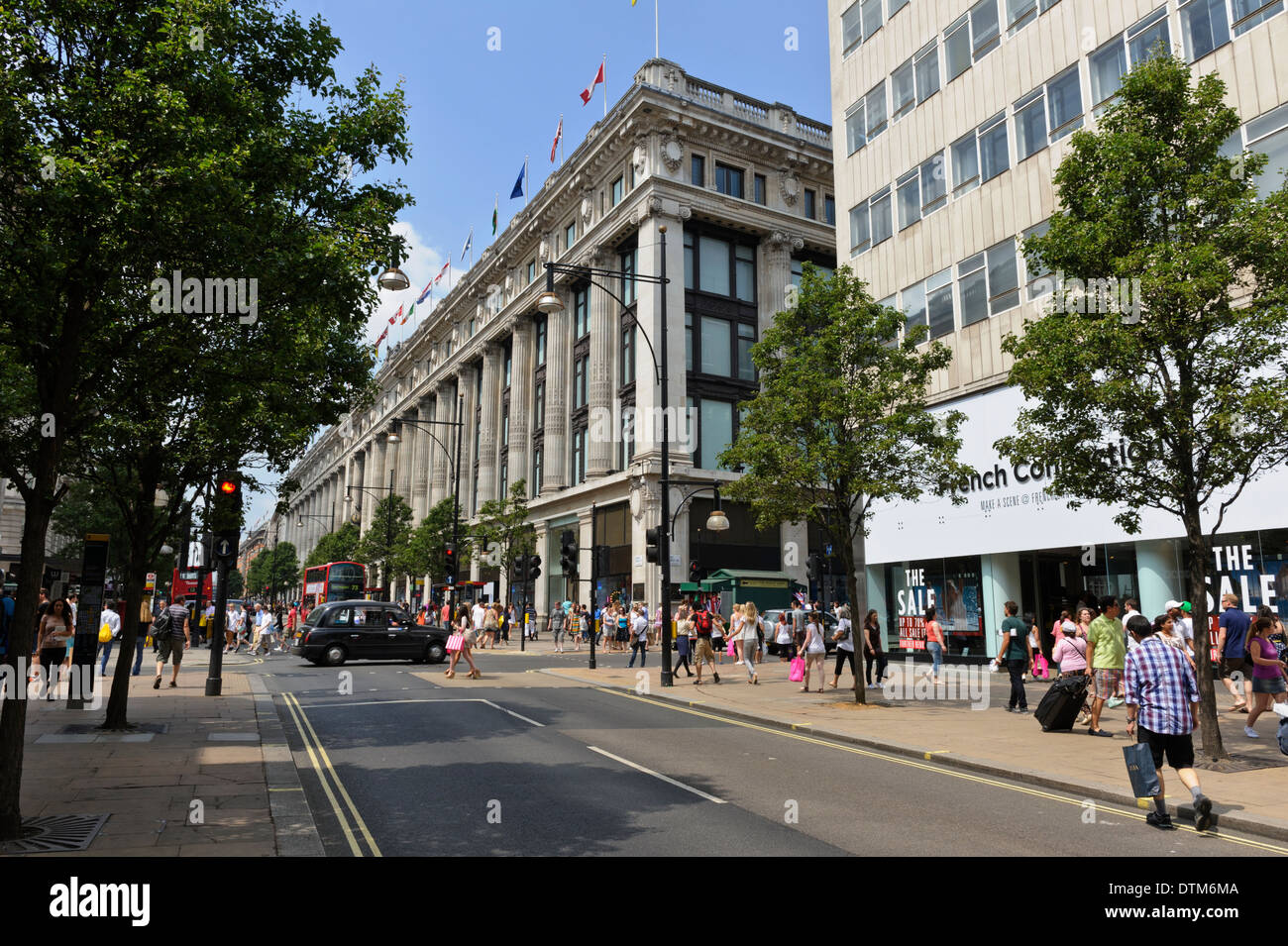 Selfridges building,one of the world famous department stores on Oxford Street, London, England, United Kingdom. - Stock Image
