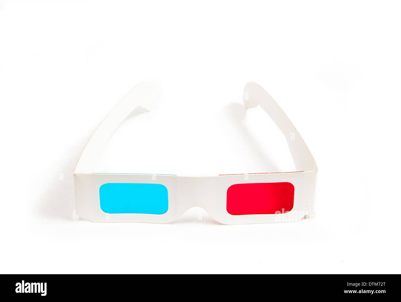 a pair of carton glasses to see three-dimensional effect films. - Stock Image