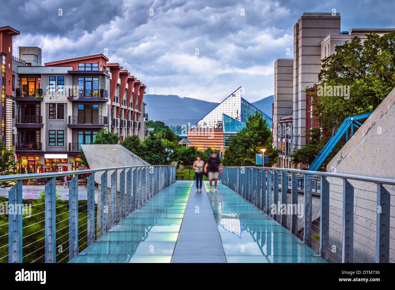 Chattanooga, Tennessee, USA downtown at twilight. - Stock Image