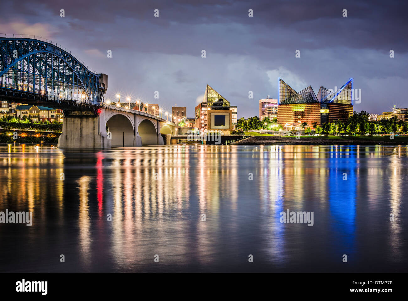 Chattanooga, Tennessee, USA downtown across the Tennessee River. - Stock Image