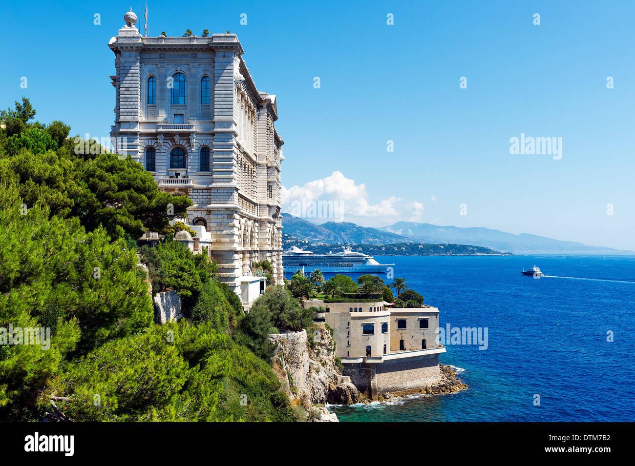 Europe, France, Principality of Monaco, Monte Carlo. Oceanographic museum. - Stock Image