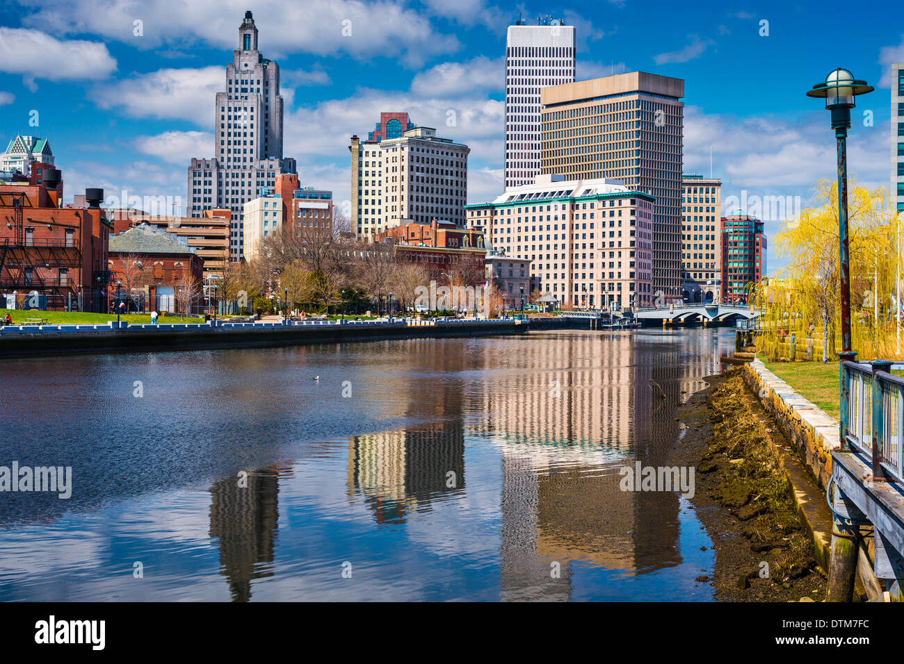 Providence, Rhode Island, USA downtown on the river. - Stock Image