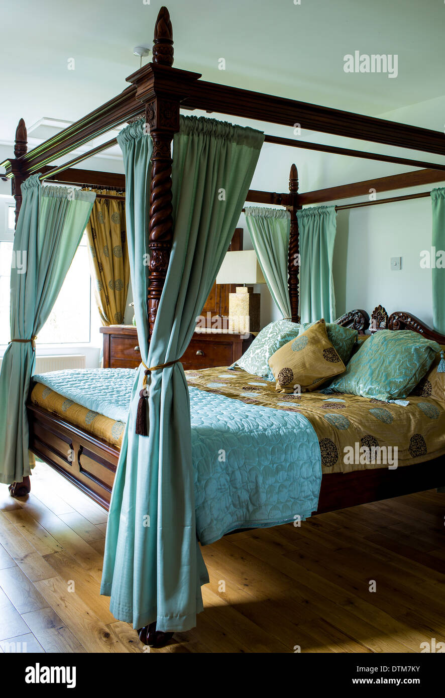 A Four Poster Bed - Stock Image