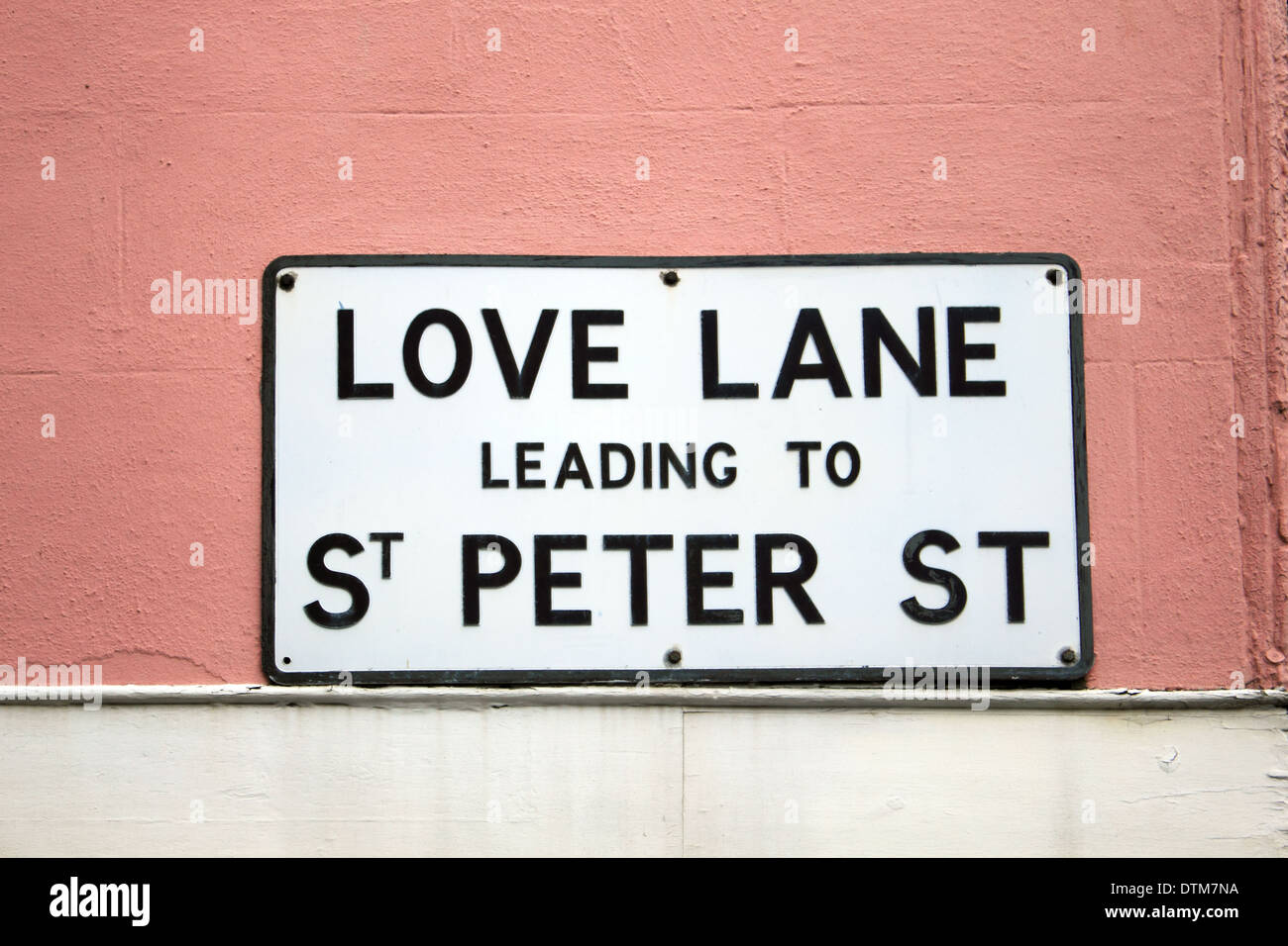 Love Lane in the historic town of Sandwich, Kent, England, UK. - Stock Image