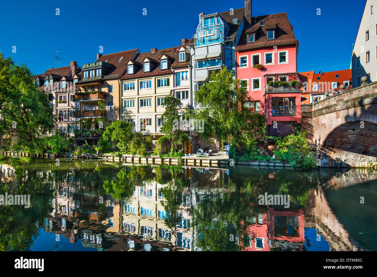 Nuremberg, Germany on the historic Pegnitz River. - Stock Image