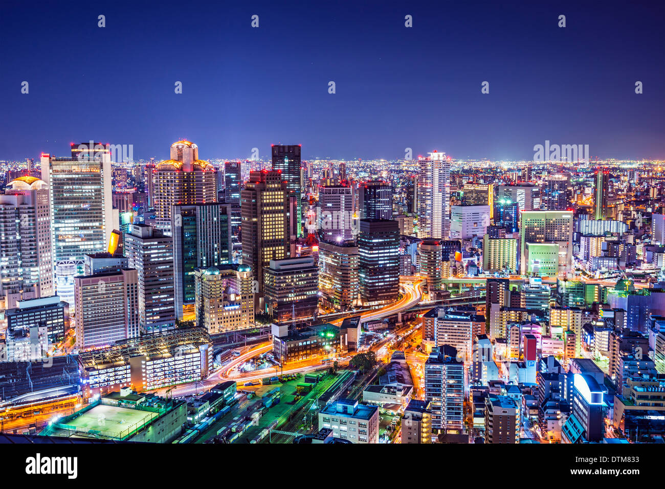 Osaka, Japan at the landmark Umeda District. - Stock Image