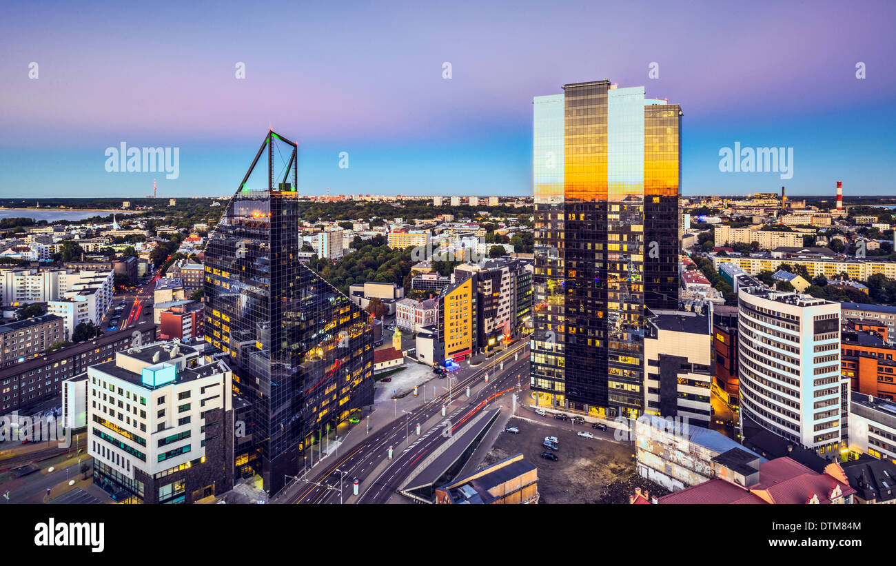 Tallinn, Estonia at the New City. - Stock Image