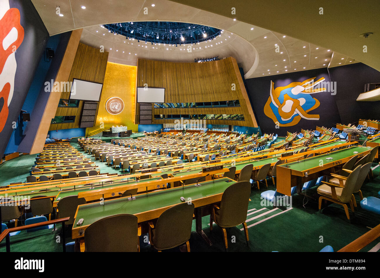 The United Nations General Assembly Hall In New York City