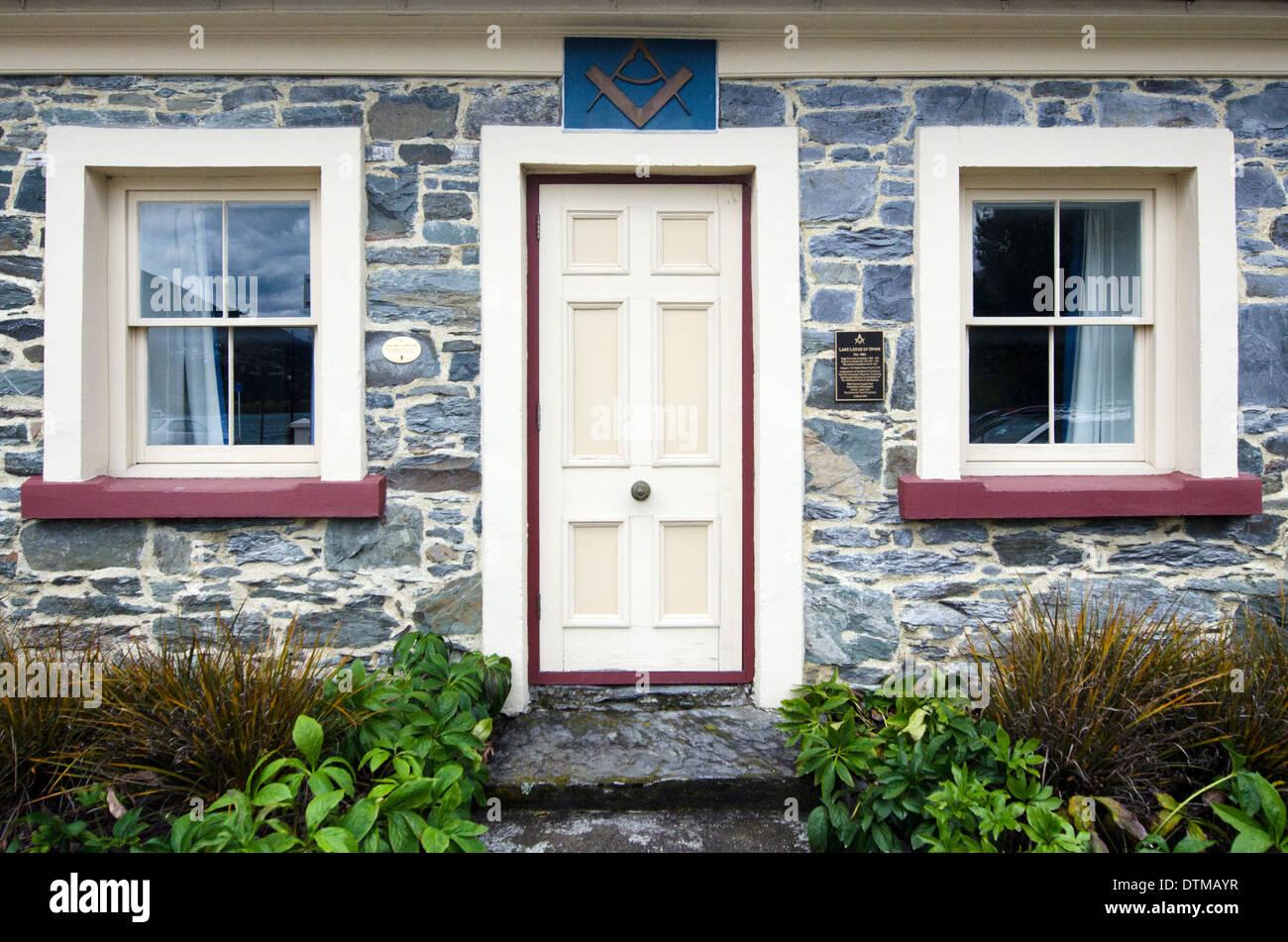 The Freemasonry Queenstown Lodge, New Zealand - Stock Image