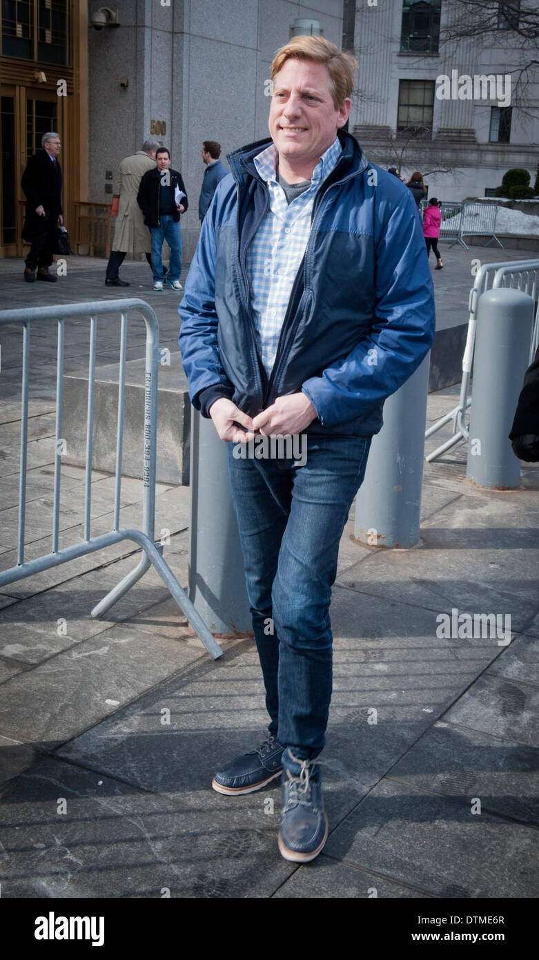 Manhattan, New York, USA. 20th Feb, 2014. DANA GIACCHETTO, ''stockbroker-to-the-stars'', leaves Manhattan Federal Stock Photo