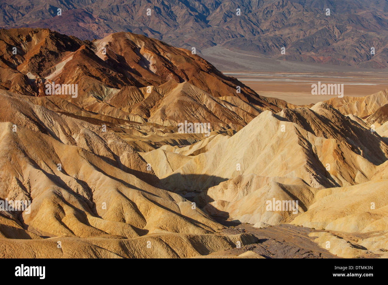 Manifold near Zabriski Point, Death Valley National Park, California USA Stock Photo
