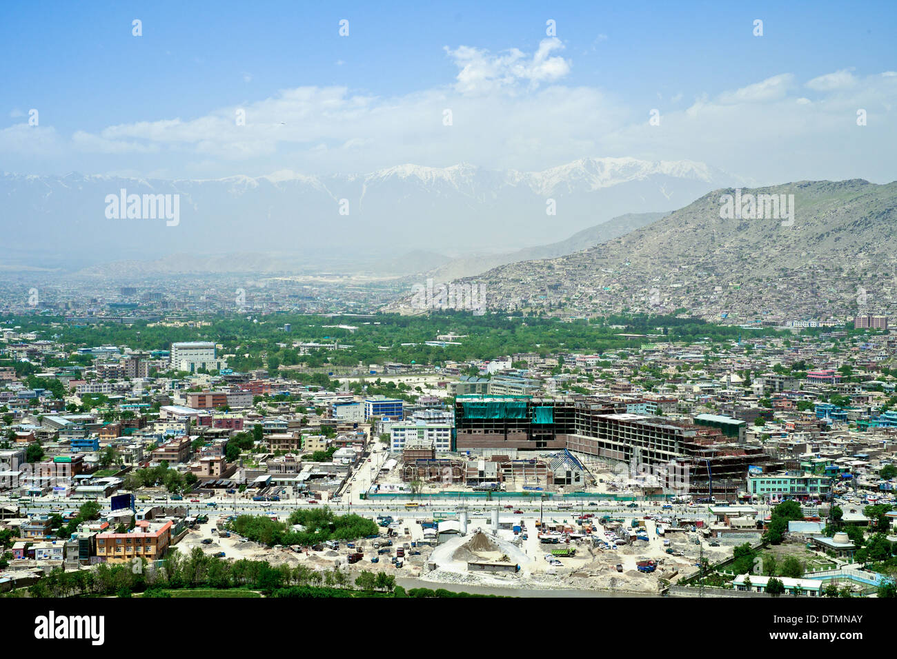Overview of Kabul, Afghanistan Stock Photo
