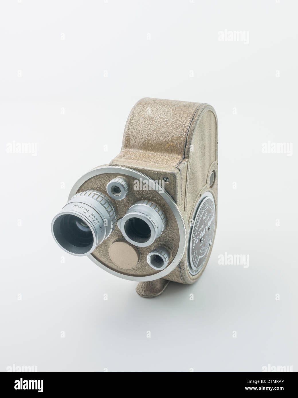 A vintage Cine Camera made by G.B. Bell & Howell Model 605 Double Run Eight Circa 1940's - Stock Image