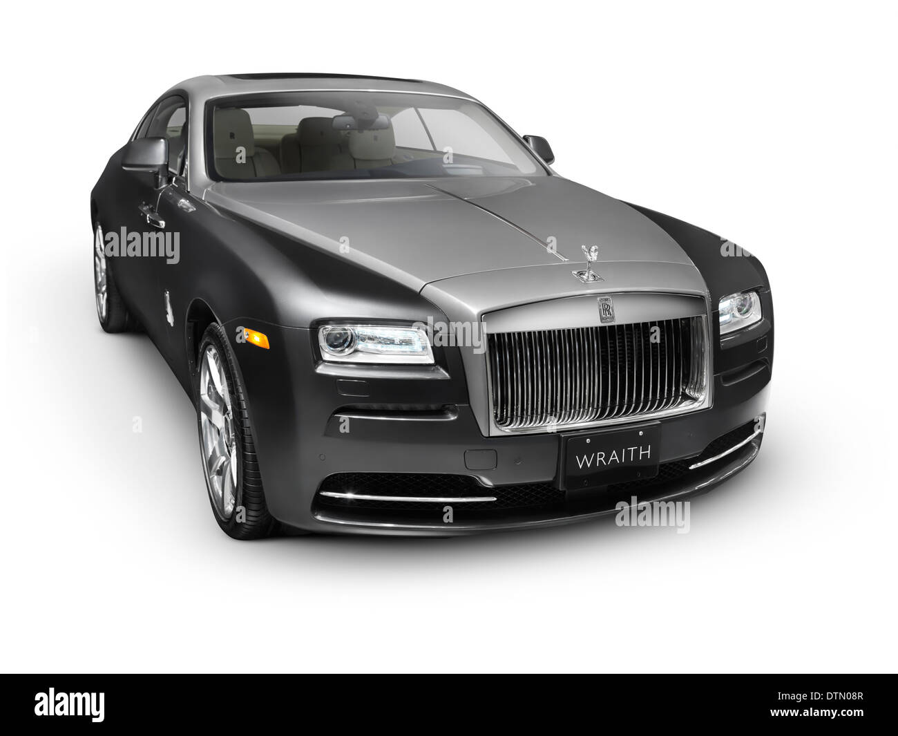 2014 Rolls Royce Wraith British Luxury Car Isolated On White Stock