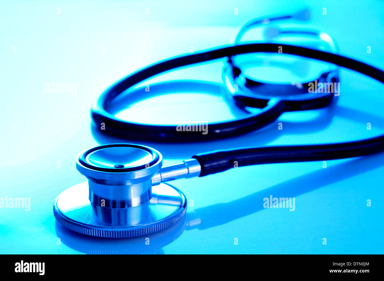 closeup of a medical stethoscope - Stock Image