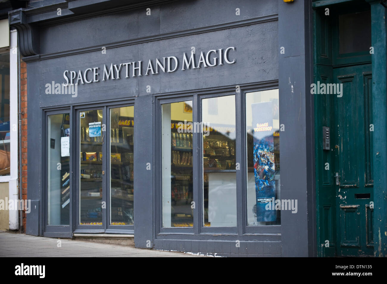 Space Myth and Magic shop in Scarborough North Yorkshire England UK - Stock Image