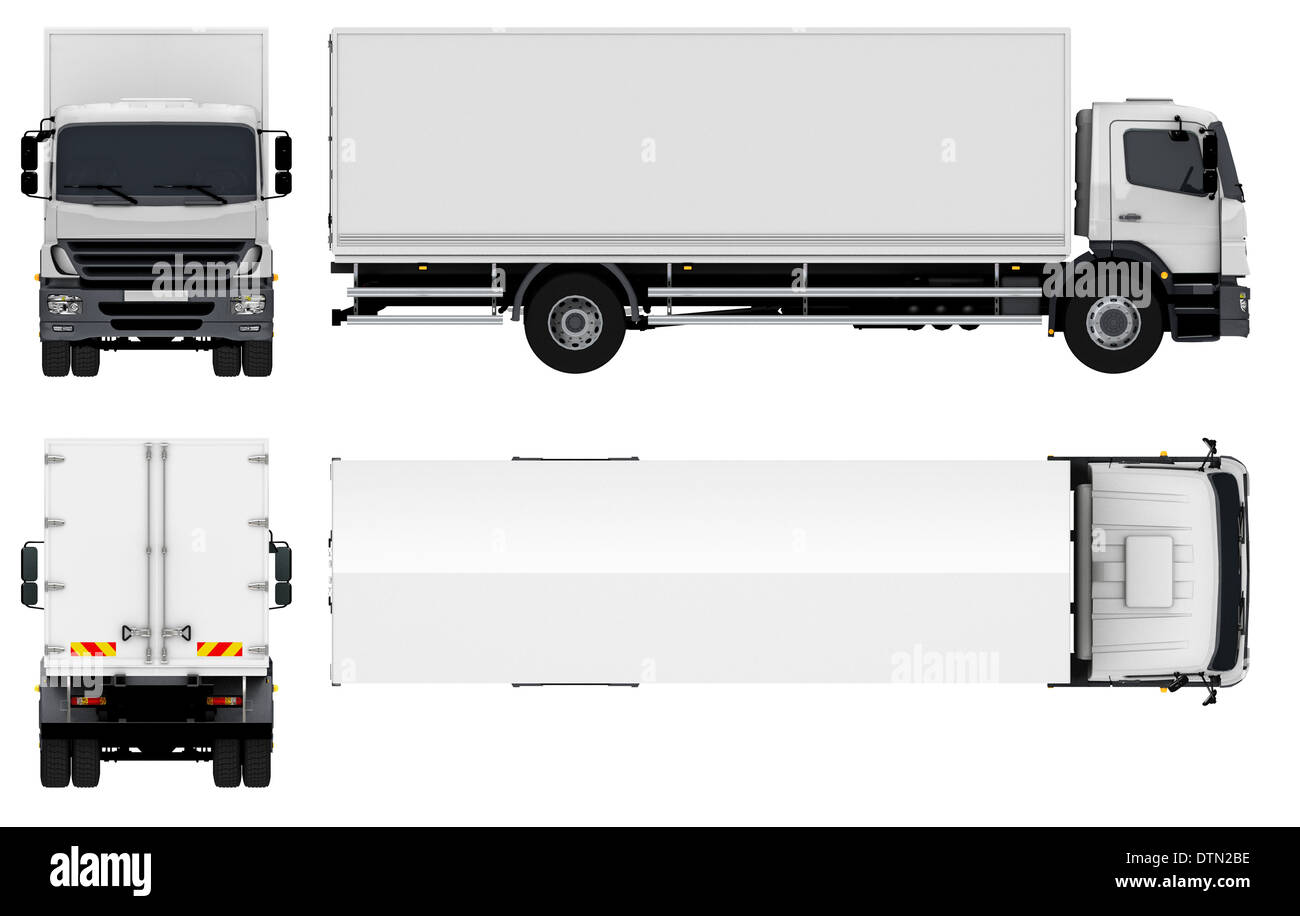 Delivery / Cargo Truck - Stock Image