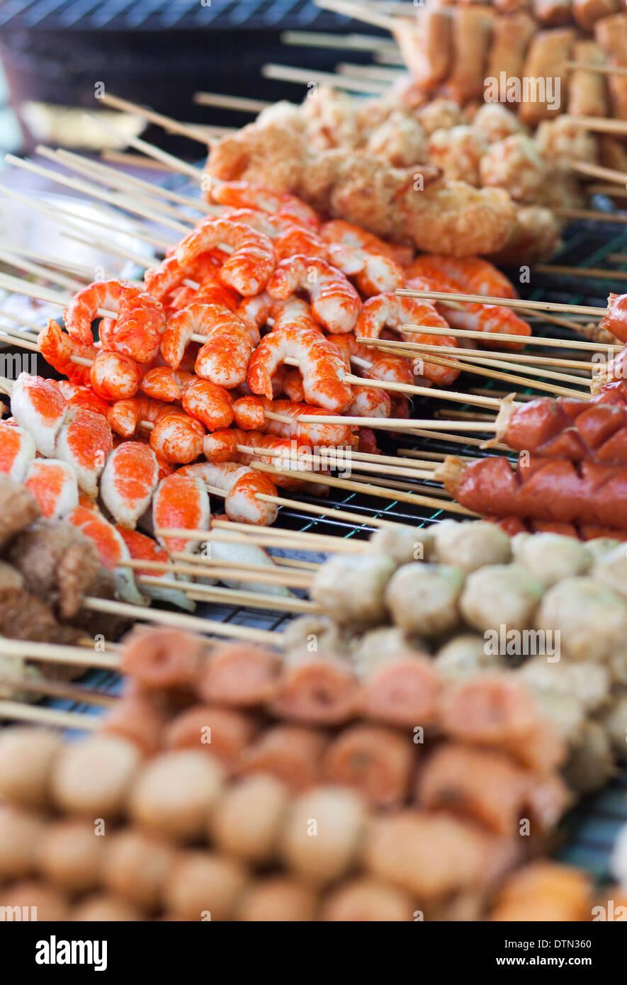 Thai street food on the market - Stock Image