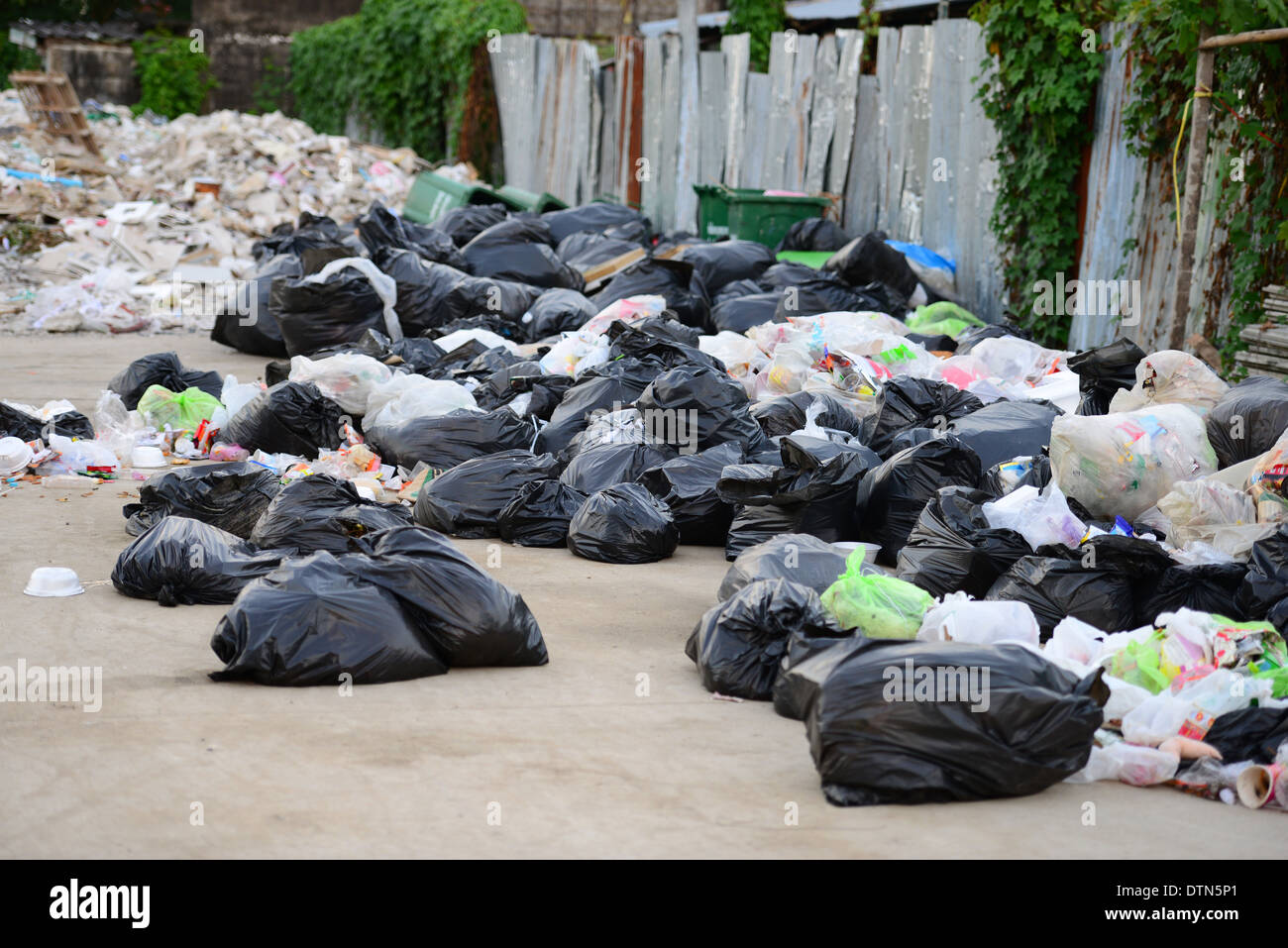 Heap of garbage Stock Photo