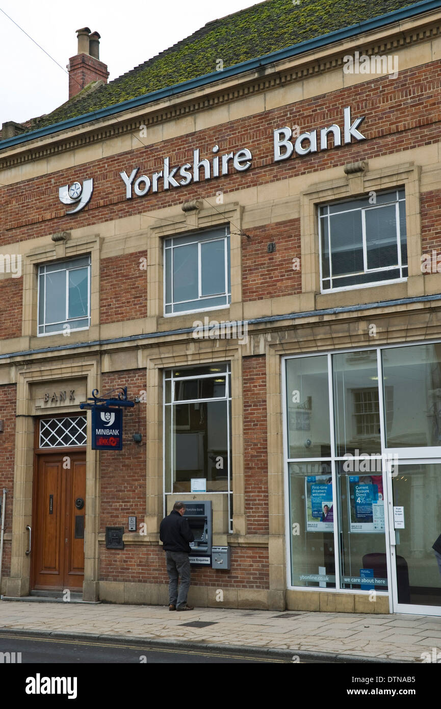 Exterior of Yorkshire Bank on high street in Malton North Yorkshire England UK - Stock Image