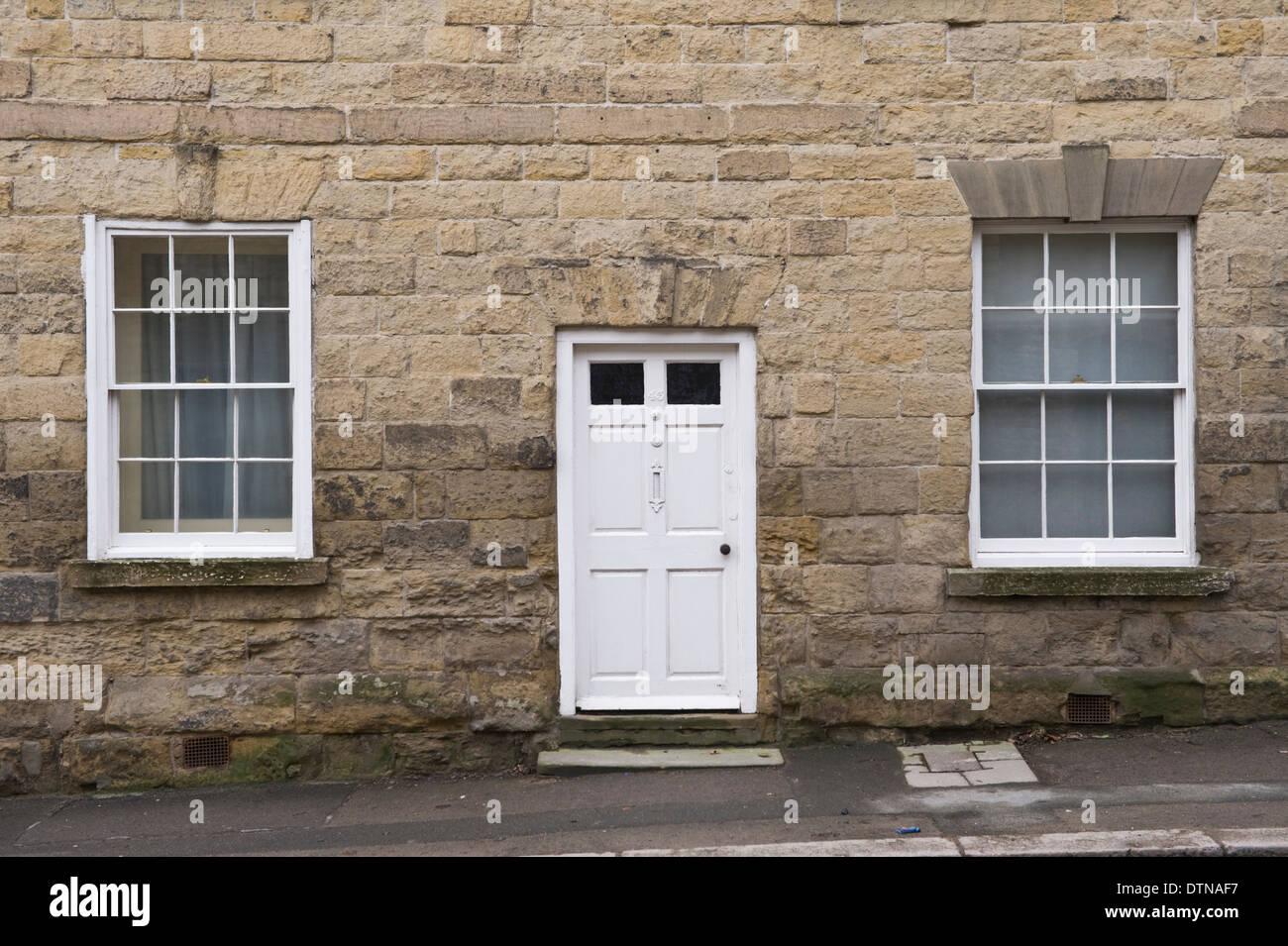 Etonnant White Wooden Front Door U0026 Sash Windows Of Stone Built Period House In  Malton North Yorkshire England UK