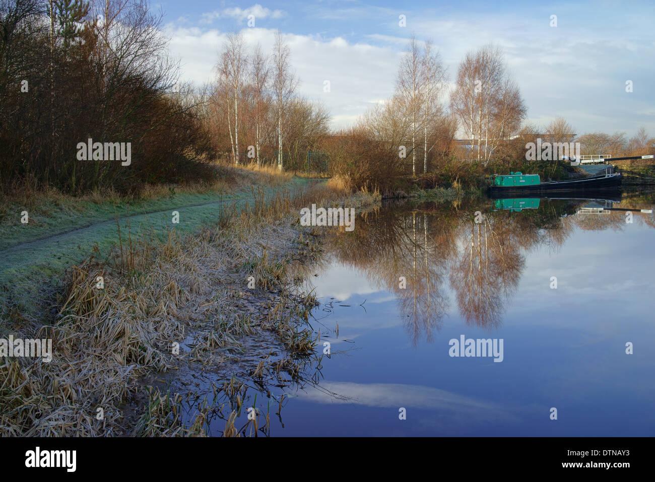 UK,South Yorkshire,Sheffield Canal,Tinsley Marina - Stock Image