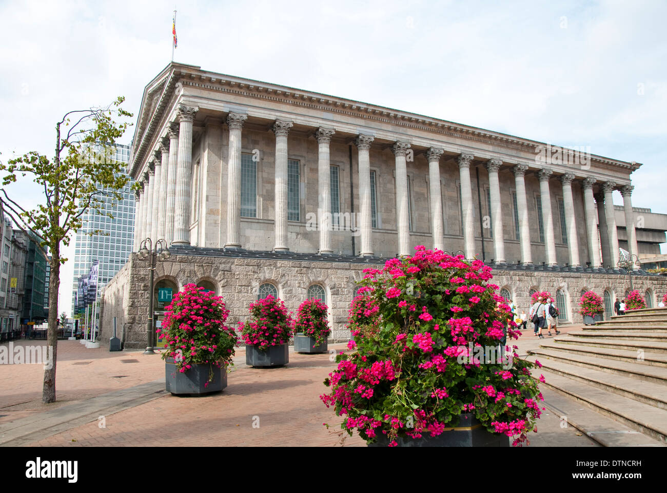 The Town Hall in Victoria Square Birmingham, West Midlands England UK - Stock Image