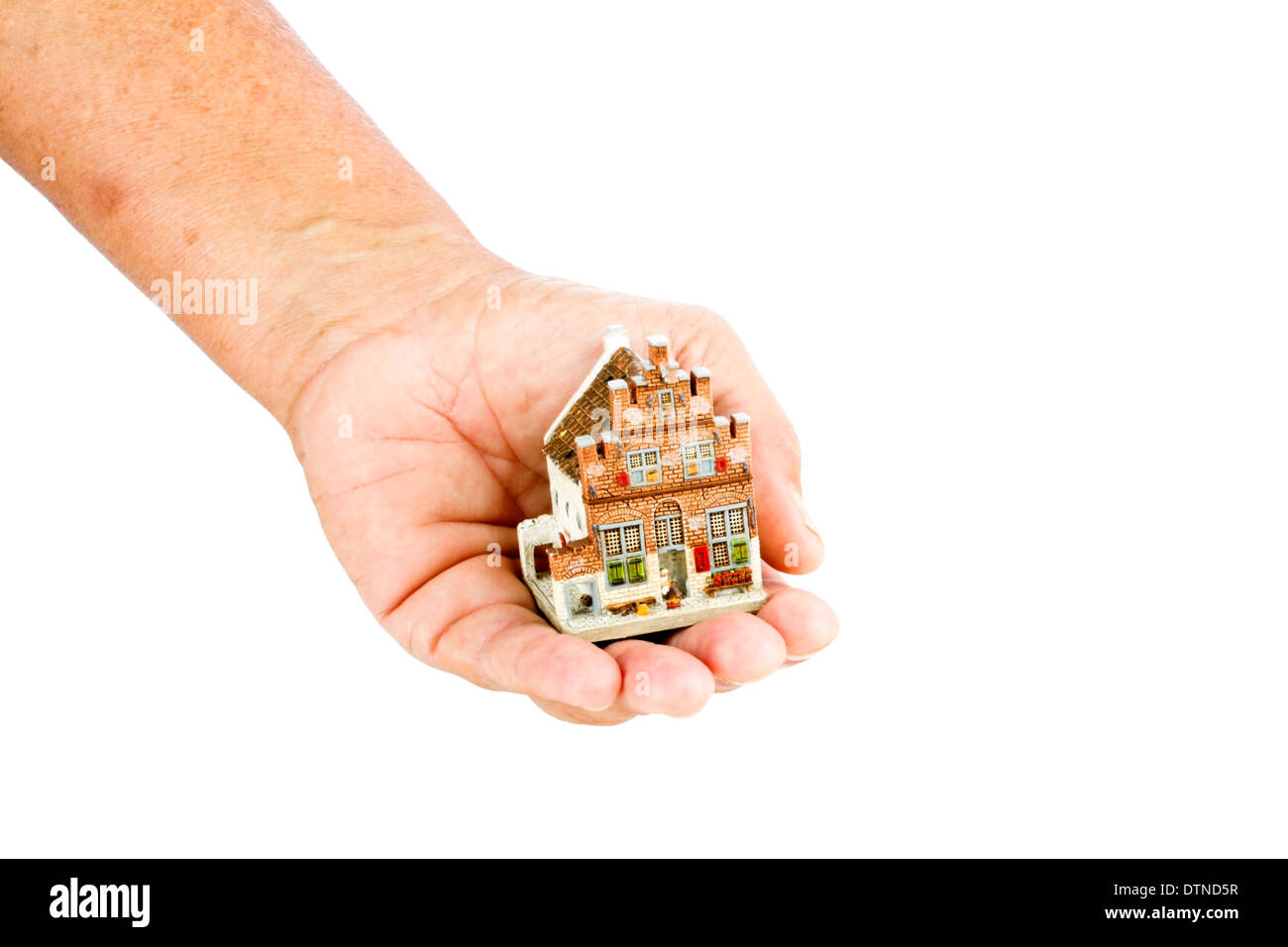 Selling or buying a house - concept for the real estate market - Stock Image