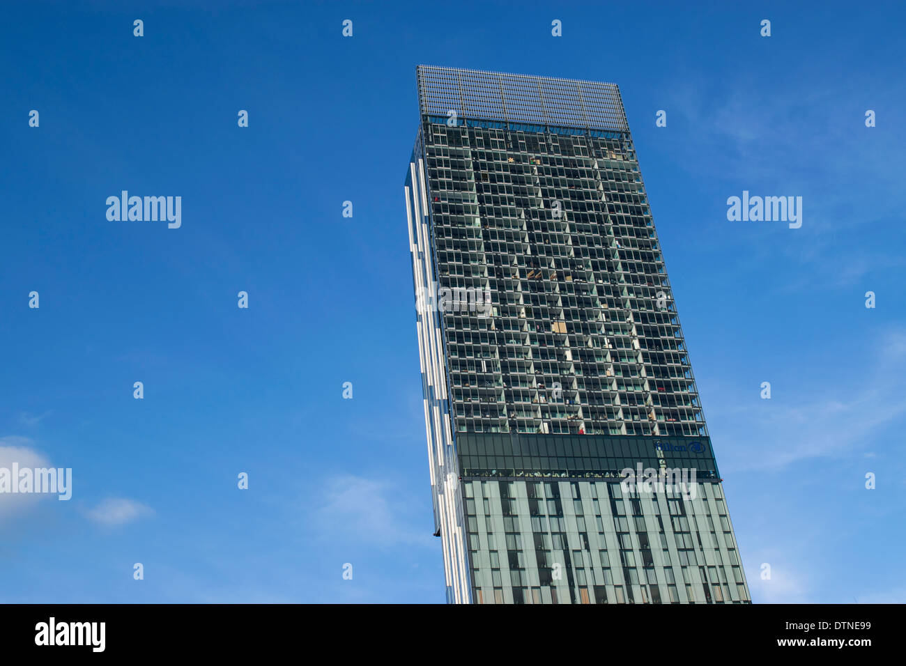 Beetham Tower mixed use skyscraper in Manchester city centre, England, UK - Stock Image