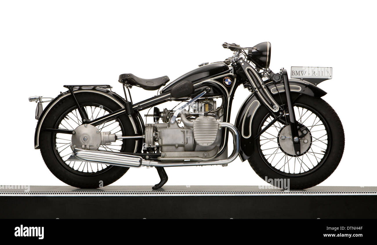 1934 BMW R11 730cc motorcycle - Stock Image