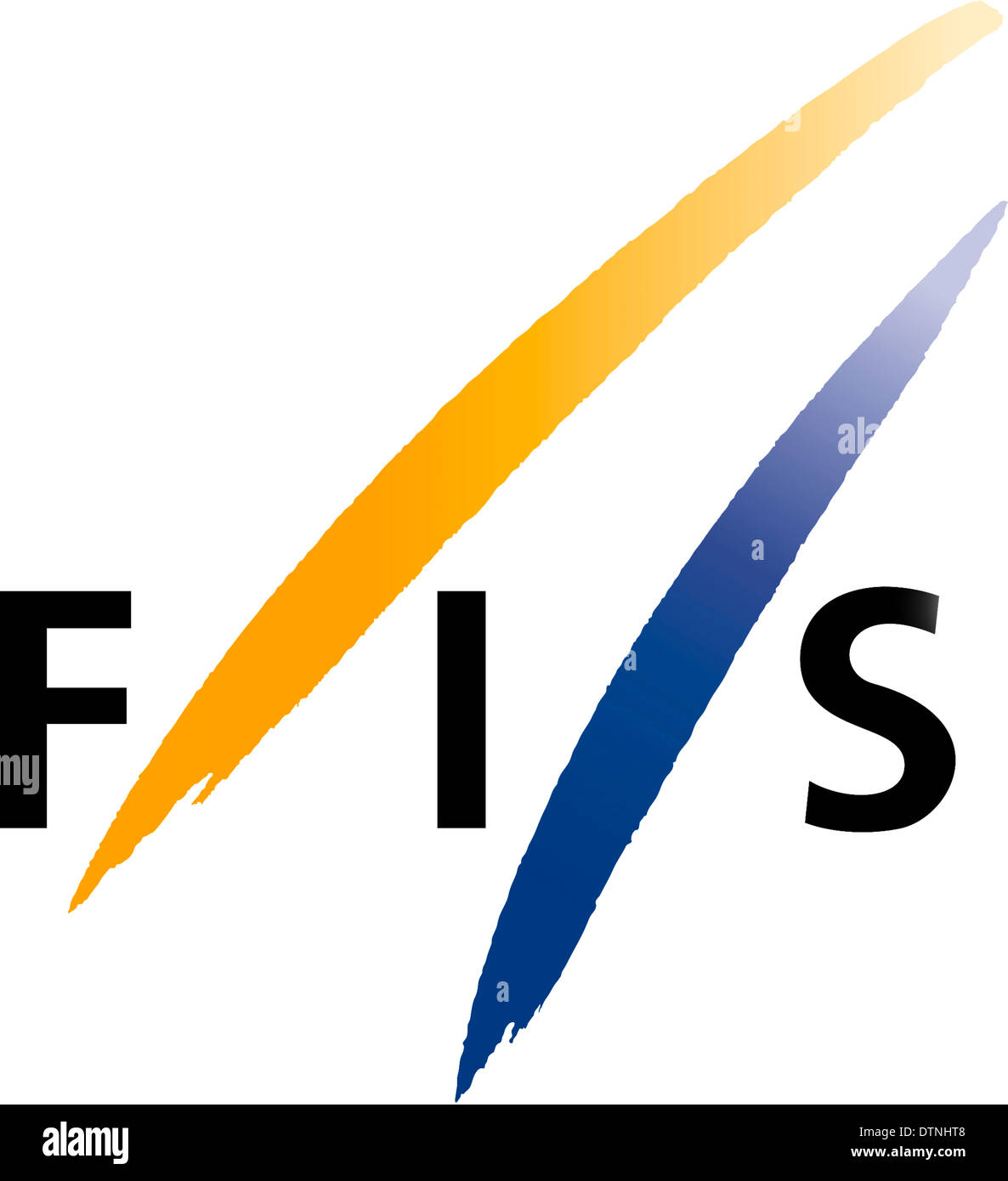 Logo of the International Ski Federation FIS - Federation Internationale de Ski with seat in Switzerland. - Stock Image