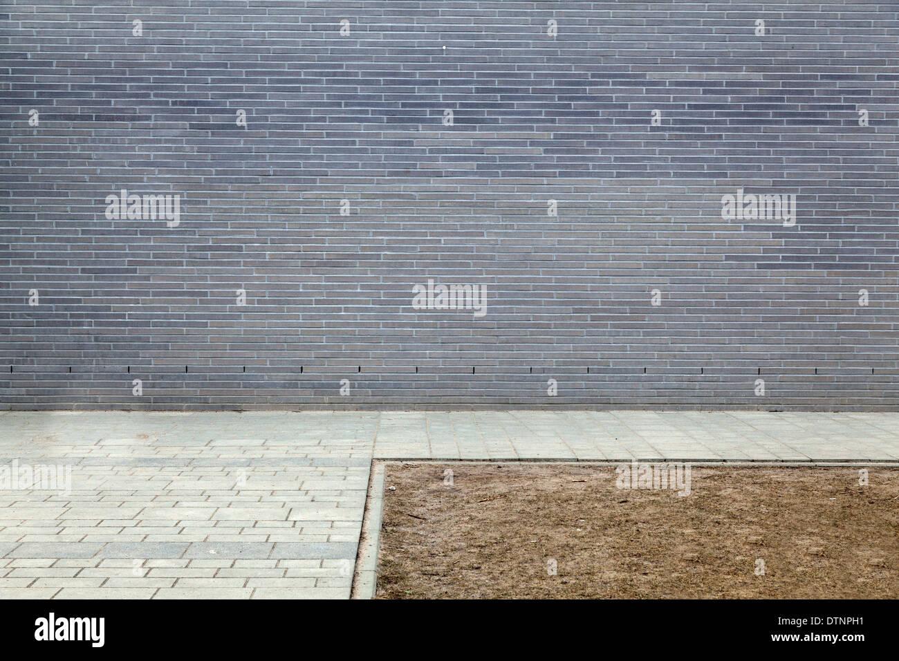 Detail kühler moderner Architektur - Stock Image