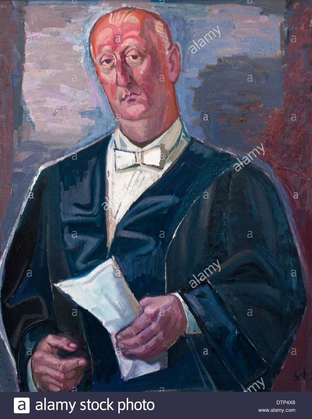 Portrait of Doctor Josef Haubrich 1951 Otto Dix 1891-1969 German Germany - Stock Image