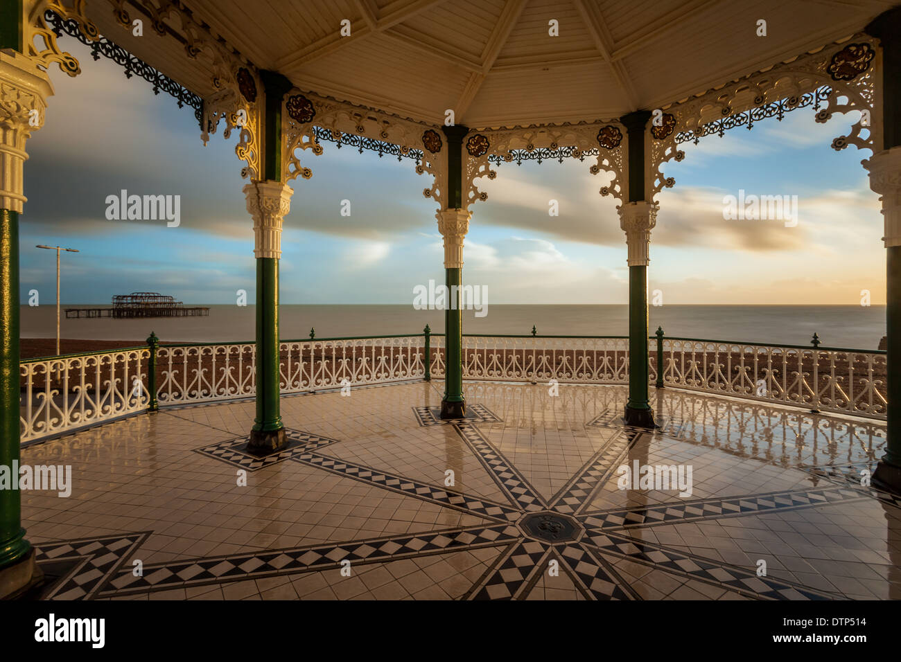 Winter afternoon at Brighton Bandstand, East Sussex, England. - Stock Image