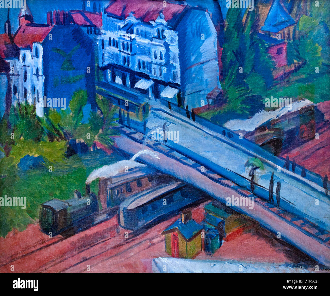 Railway Bridge 1914  Ernst Ludwig Kirchner 1880 -1938 German Germany - Stock Image