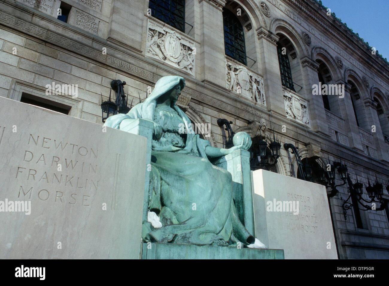 Boston Public Library, Copley Square, Boston USA.  Stock Photo