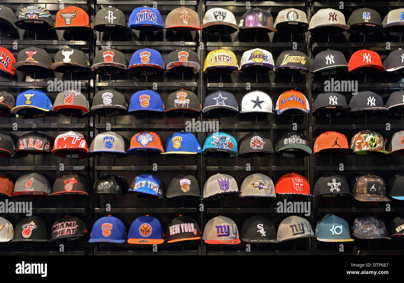 Rows of sports caps for sale the Footlocker store in the Roosevelt Field  Mall in Garden City 202f37b9099