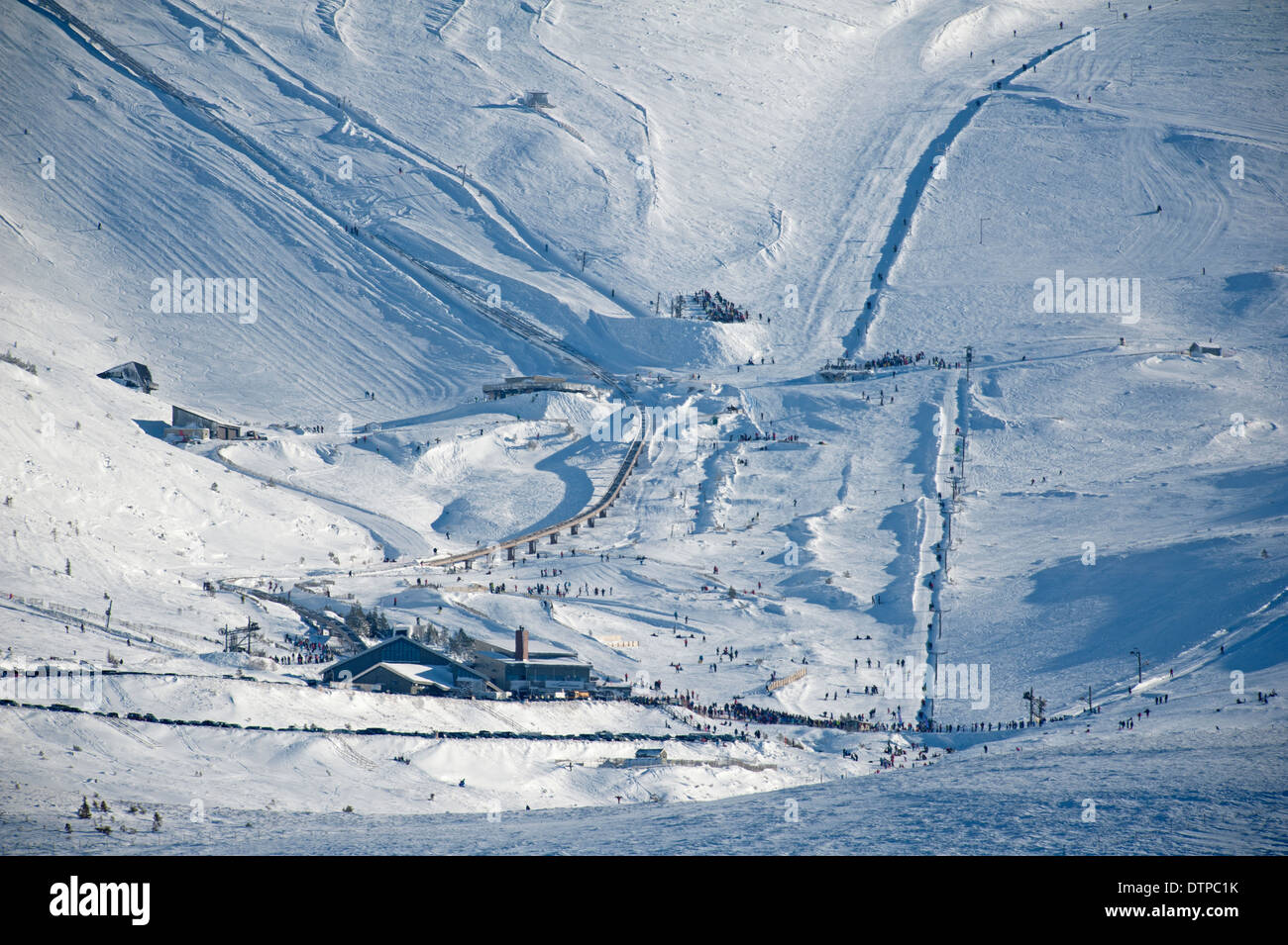 The Lower Cairngorm Ski ground round the White Lady and Gun barrel runs. SCO 9013 - Stock Image