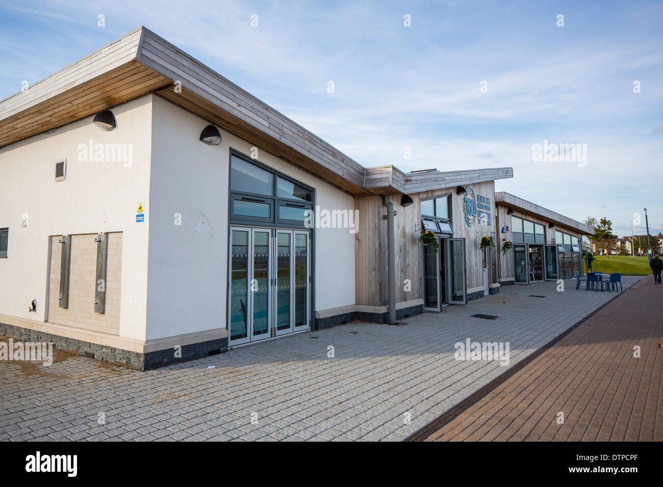 The 360 Beach and Watersports centre in Swansea, West Wales. - Stock Image