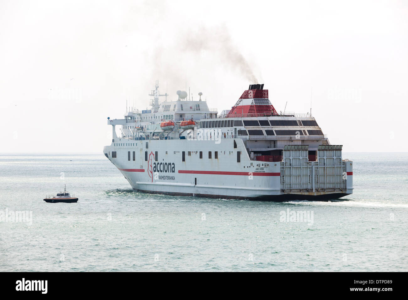 Passenger ferry departing Malaga Spain Stock Photo