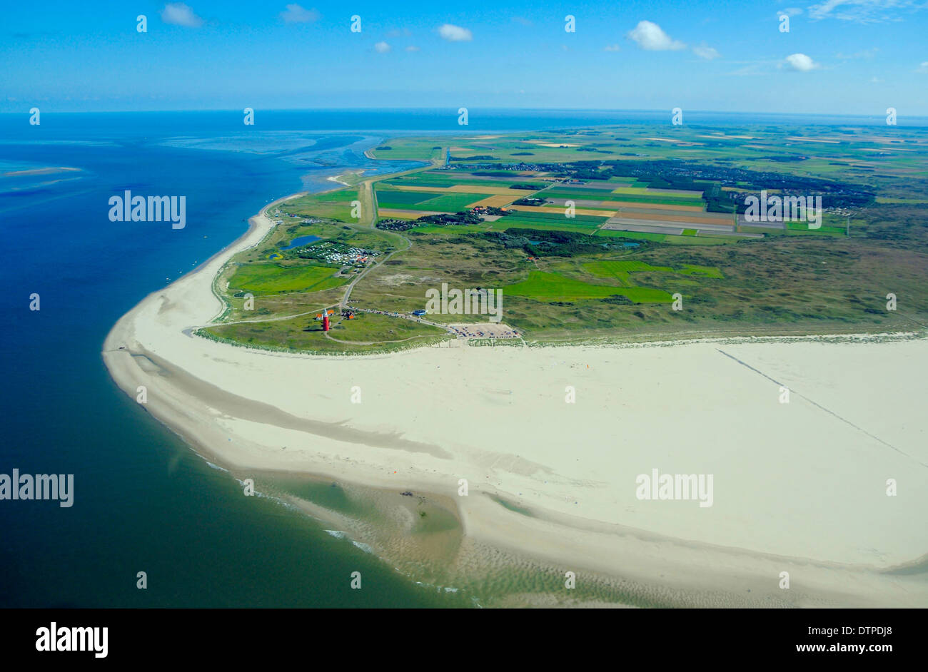North cap of Texel, Island of Texel, Netherlands - Stock Image
