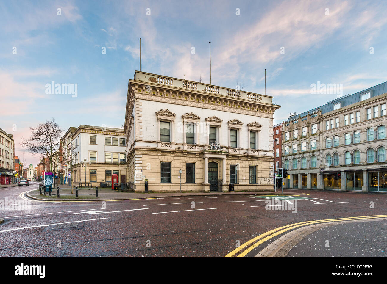The Exchange and Assembly Rooms: On the junction of Bridge, North, Waring and Rosemary Streets (aka the Four Corners). - Stock Image